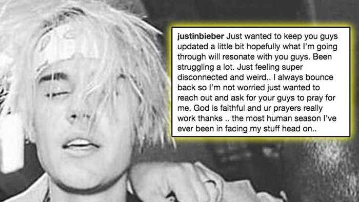 Justin Bieber ADMITS To Struggling & Opens Up About Mental Health On Social Media!