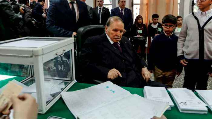 Protests force Algeria leader from reelection bid