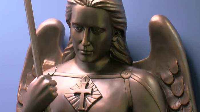 New St. Michael statue dedicated at Marquette University Police headquarters