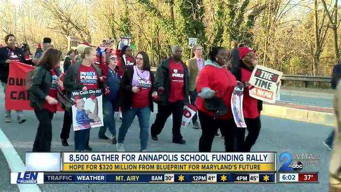 Thousands gathered for Annapolis school funding rally