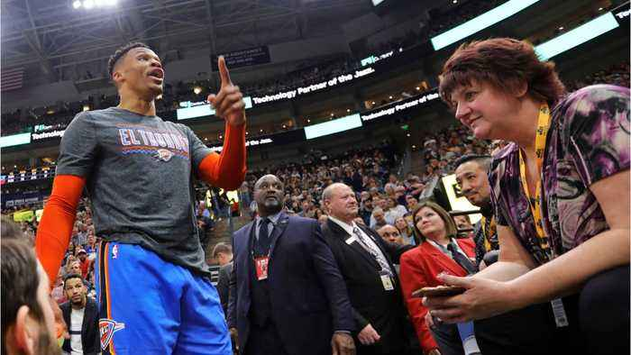 Russell Westbrook Threatens Fan