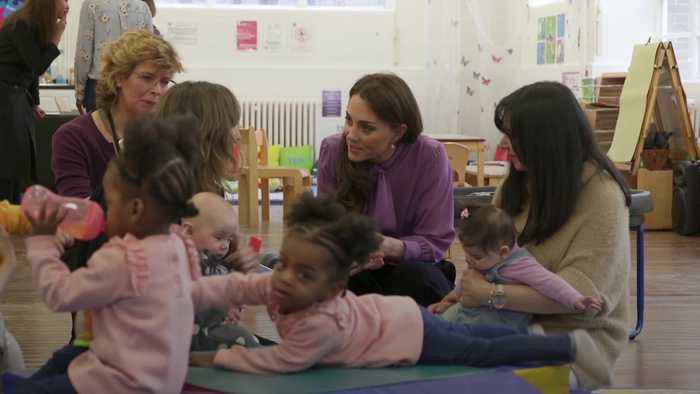 The Duchess of Cambridge visits the Henry Fawcett Children's Centre