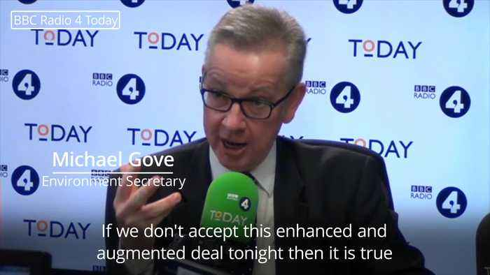 Gove compares Theresa May to Manchester United ahead of Commons vote