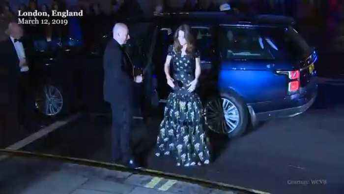 Right Now: Kate Middleton, Victoria and David Beckham Arrive at National Portrait Gala