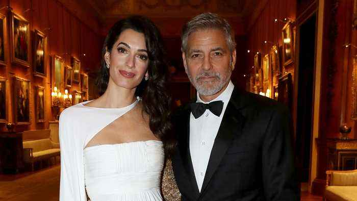 Amal And George Clooney Attend Dinner At Buckingham Palace With Prince Charles