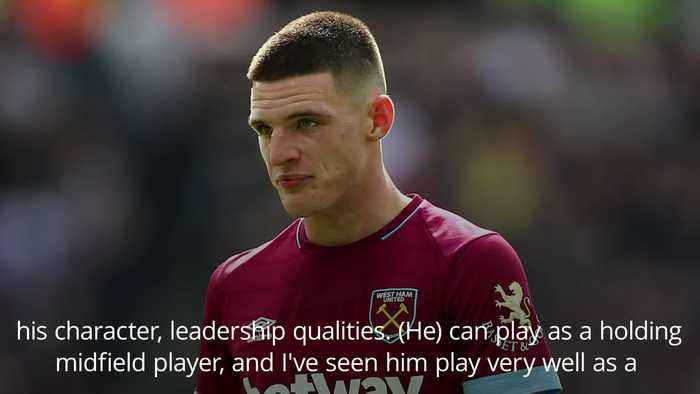 Declan Rice has shown personality, character and leadership, says Southgate