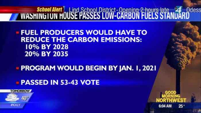 Washington State house passes carbon reduction bill