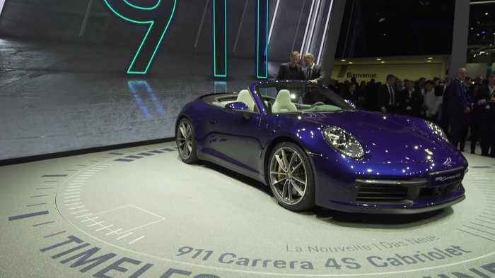 The new Porsche 911 Carrera Cabriolet at the 2019 Geneva Motor Show
