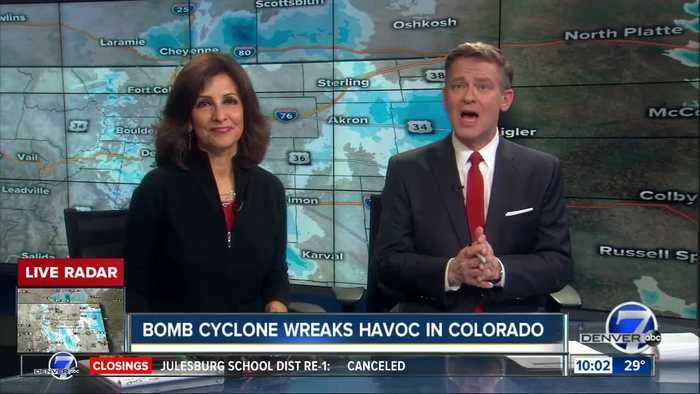 Bomb Cyclone wreaks havoc in Colorado as blizzard whips state