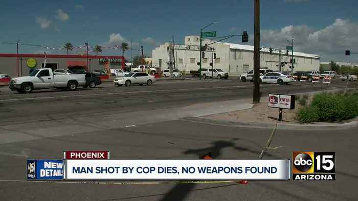 Man shot by Phoenix officer dies, no weapons found