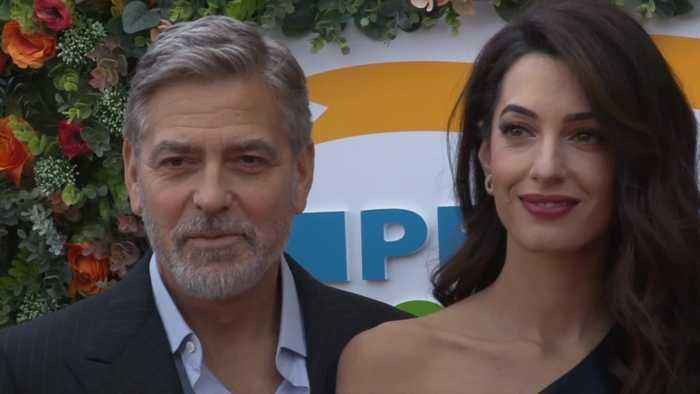 George and Amal Clooney attend charity event in Edinburgh