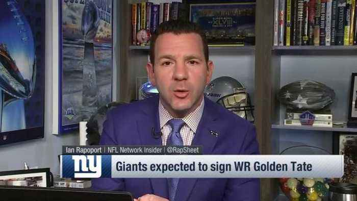 NFL Network Insider Ian Rapoport: Wide receiver Golden Tate agrees to four-year contract with New York Giants