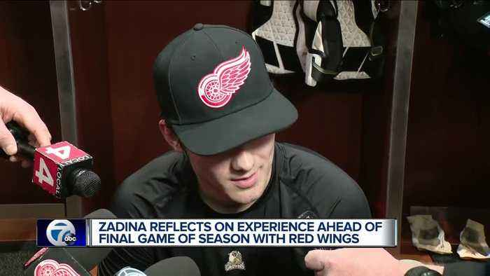 Zadina reflects on experience in NHL ahead of final game this season with Red Wings