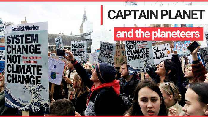 Thousands of schoolchildren gathered outside Westminster for a protest about climate change