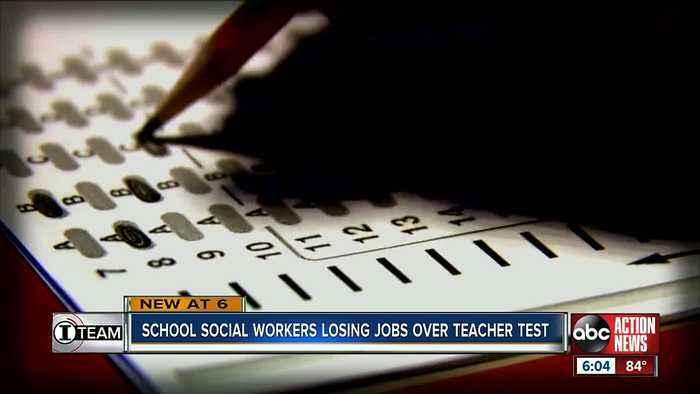 School social workers in Florida are losing their jobs for not passing a state teacher test