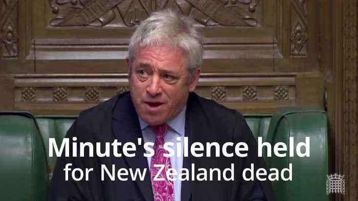 MPs hold minute's silence in solidarity with New Zealand