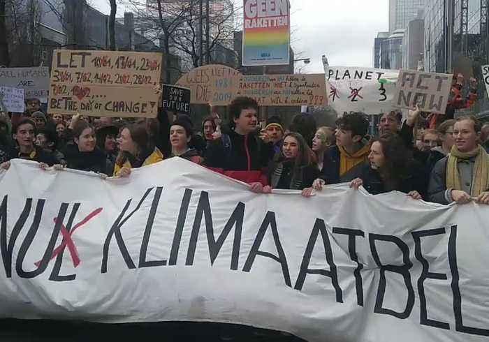 Thousands Join Climate Action March in Brussels