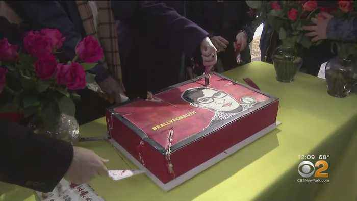 NYC Celebrates 86th Birthday Of Justice Ruth Bader Ginsburg