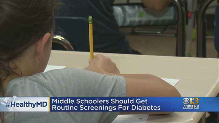 Healthwatch: Middle School Children Should Get Routine Screenings For Diabetes