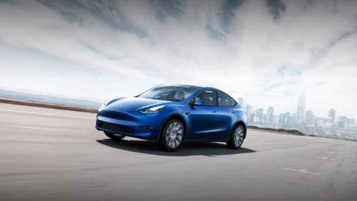 Elon Musk Unveils Tesla's New Model Y