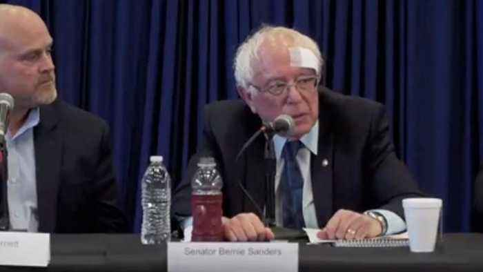 Bernie Sanders Gets Stitches After Cutting Head On Glass Shower Door