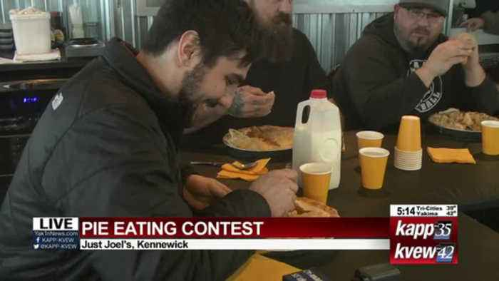 Pie eating contest live shot 2