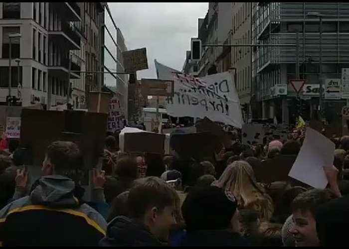 Youth Protesters Pack Berlin Streets For 'Climate Strike'