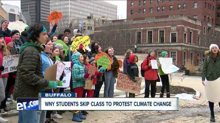 Western New York students skip class to protest climate change
