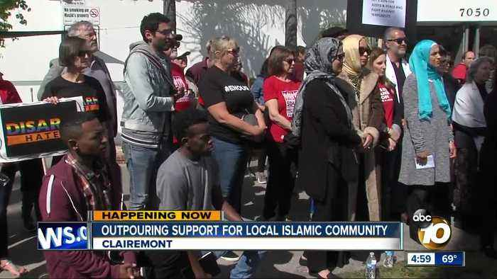 Outpouring support for San Diego Islamic community
