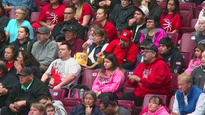 'Our Pride And Joy': Red Lake Fans Travel Hours To Cheer Team At State B-Ball Tourney