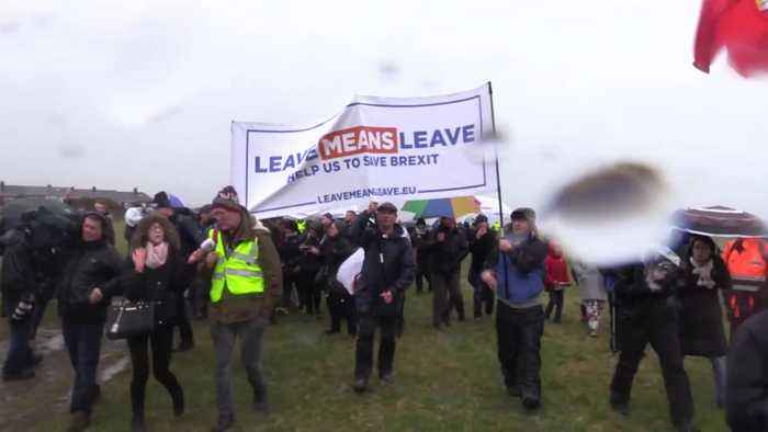 Nigel Farage leads pro-Brexit march from Sunderland to London