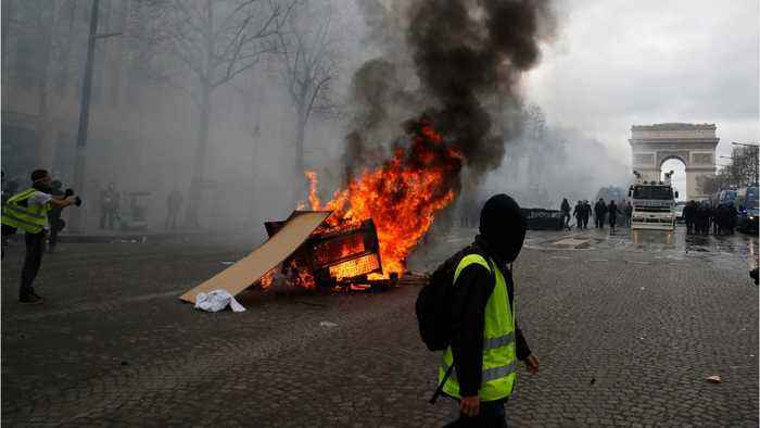 Violence Flares In France As Yellow Vest Protests Enter Fourth Month