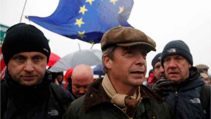 Nigel Farage Joins Protesters In March Over Brexit Betrayal