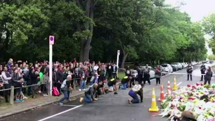 Bikers pay tribute to Christchurch victims with Haka