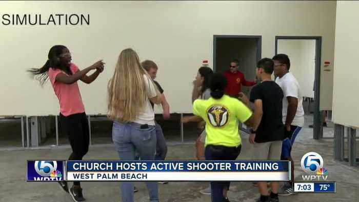 Church hosts active shooter training in West Palm Beach