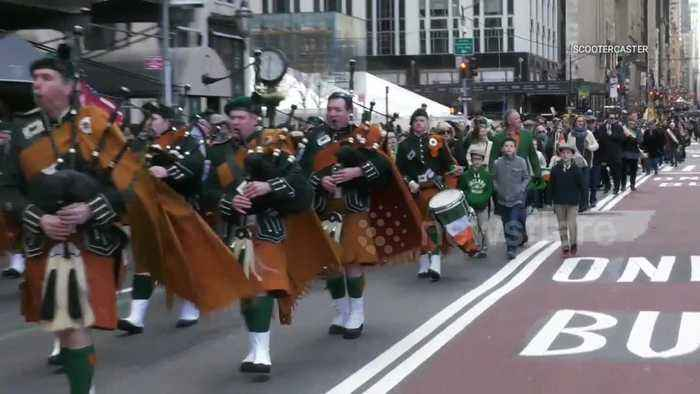 Drums, pipes and shamrocks: The St Patrick's Day Parade in New York City