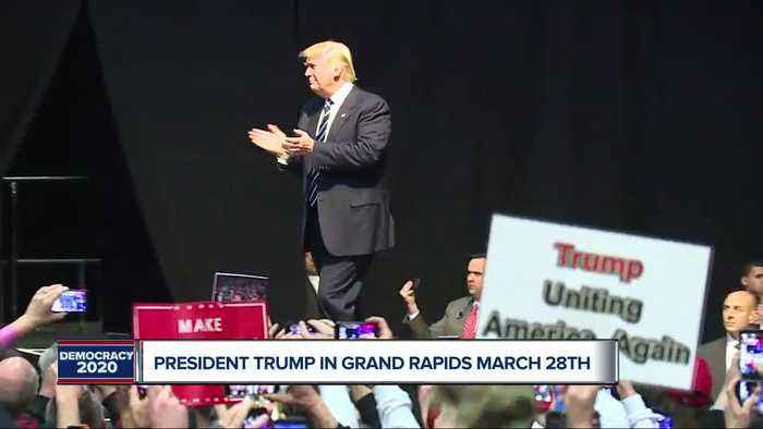 President Trump holding a rally in Grand Rapids this month