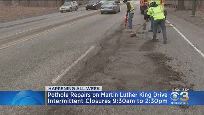 Pothole Repairs On Martin Luther King Drive Begin Today