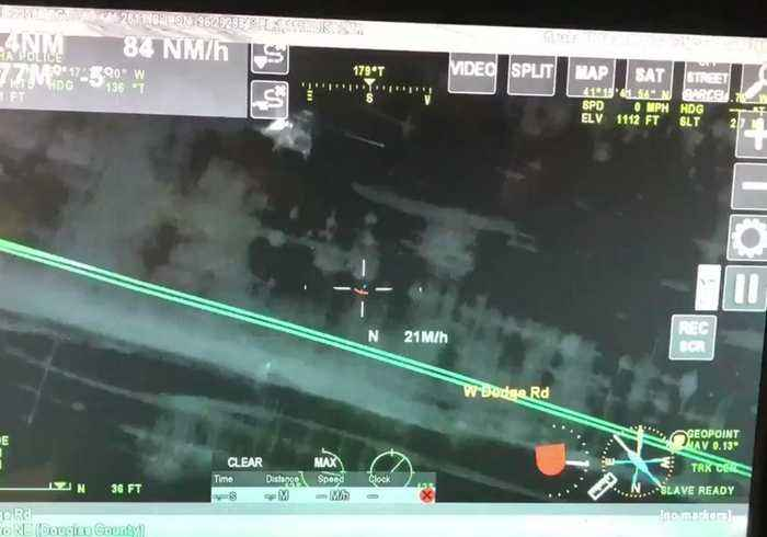 National Guard Use Helicopter to Airlift Stranded Motorists Caught in Nebraska Floods