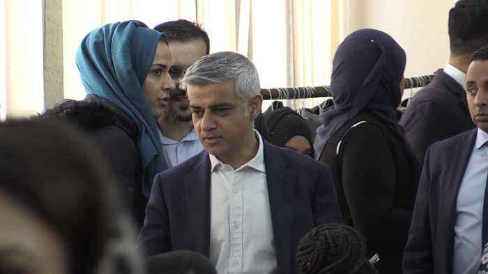 Sadiq Khan and Sajid Javid join solidarity event at Central London Mosque after New Zealand shootings
