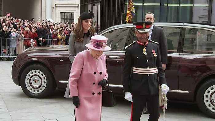Queen and Duchess of Cambridge visit King's College