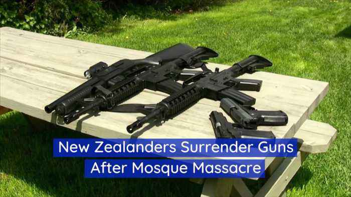 New Zealanders Are Turning In Guns Willingly After Massacre