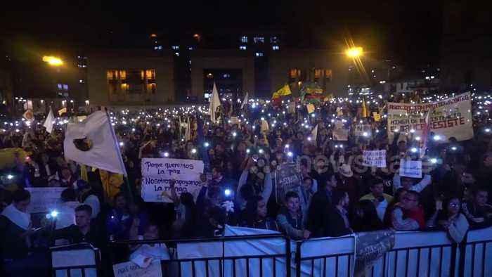 Protests in Colombia as President Duque attempts to return peace legislation to Congress