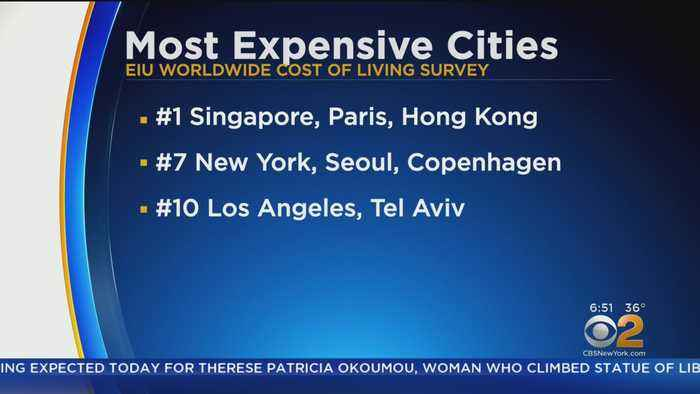 New York Back On List Of Most Expensive Cities