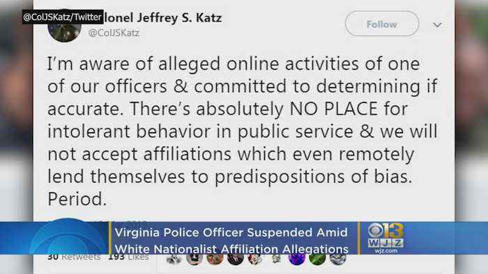 Virginia Police Officer Suspended Amid White Nationalist Affiliation