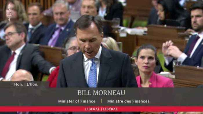 Tories Storm Out Of House Of Commons During Morneau's Budget Speech