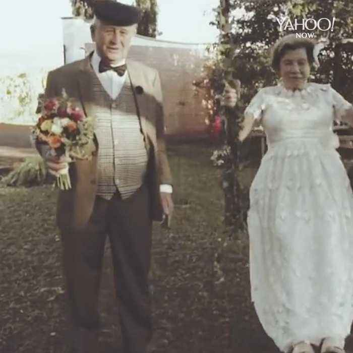 Couple finally has their wedding photos taken after 60+ years of marriage