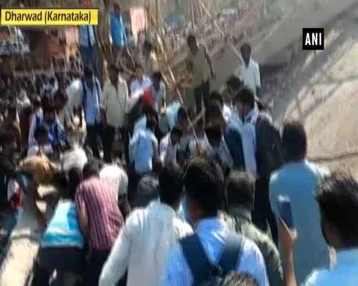 Under-construction building collapses in Karnatakas Dharwad several feared trapped