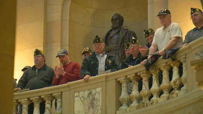 Minnesota Veterans Rally At State Capitol