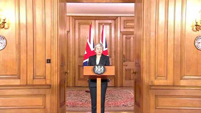 May urges lawmakers to back Brexit deal now